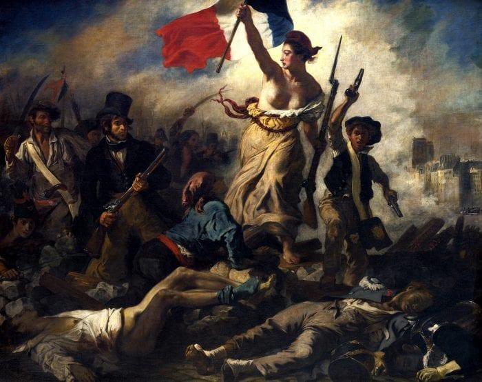 A liberdade guiando os povos, de Eugene Delacroix