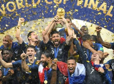 Seleção francesa comemora título mundial (Getty Images)