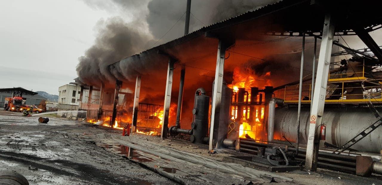 Incêndio foi controlado antes do meio-dia (Bombeiros Voluntários de Navegantes)