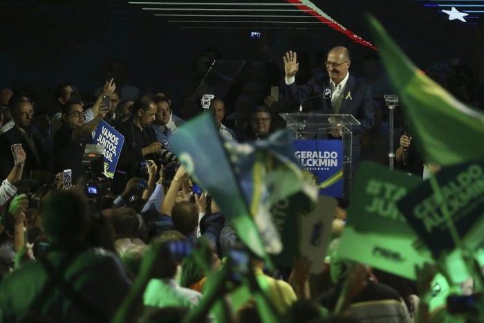 Convenção Nacional do PSDB, em Brasília, lança Geraldo Alckmin como seu candidato à Presidência da República (José Cruz/Agência Brasil)