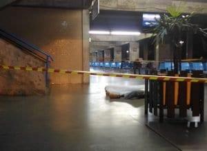 Vítima foi assassinada no interior do Terminal Rodoviário de Blumenau (Marcos Fernandes/Especial)