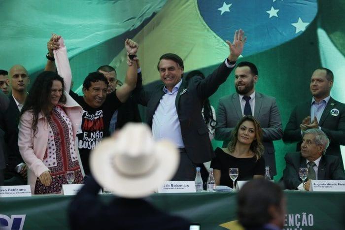 PSL lança candidatura de Jair Bolsonaro à Presidência da República (Fernando Frazão/Agência Brasil)