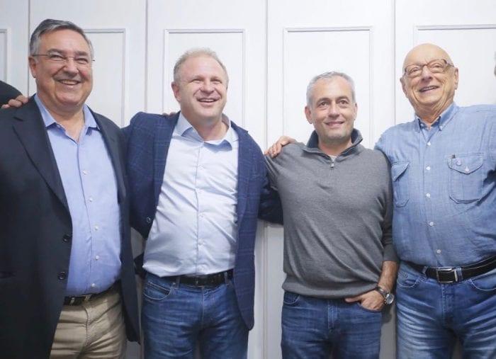 Raimundo Colombo (PSD), Gelson Merisio (PSD), João Paulo Kleinubing (DEM) e Esperidião Amin (PP)