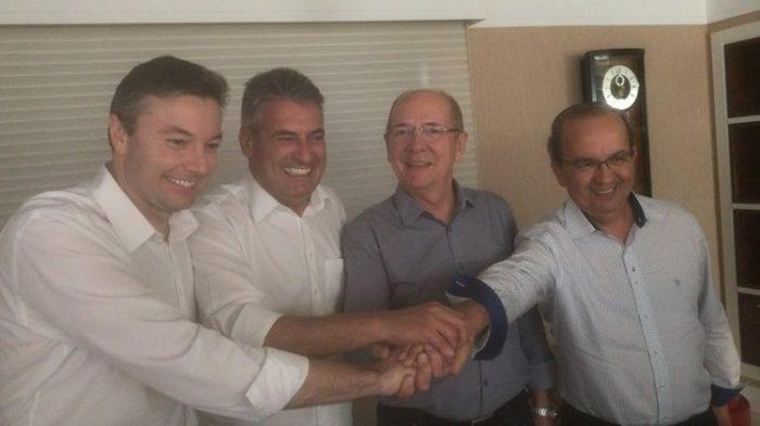 Napoleão Bernardes (PSDB), Mauro Mariane (PMDB), Paulo Bauer (PSDB) e Jorginho Mello (PR)