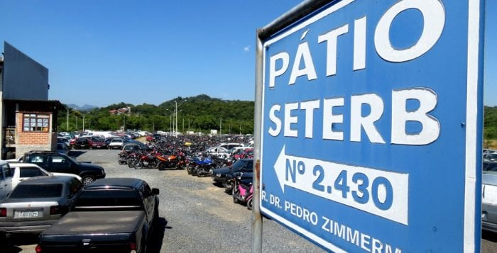 Liberação de veículos removidos será diretamente no pátio do Seterb - foto de Marcelo Martins