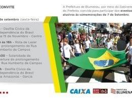 Atrações do feriado da Independência do Brasil em Blumenau