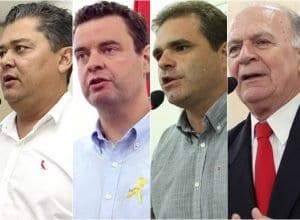 Almir Vieira, Fábio Fiedler, Robinsom Soares e Braz Roncáglio