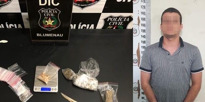 Motorista de Uber que vendia drogas é preso pela Polícia Civil (DIC)