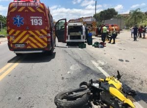 Motociclista já estava morto quando o resgate chegou ao local (CBM)