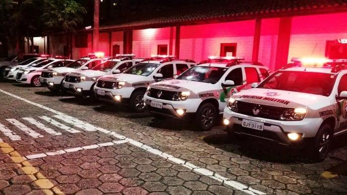 Nove viaturas entregues ao 10º Batalhão de Polícia Militar em Blumenau