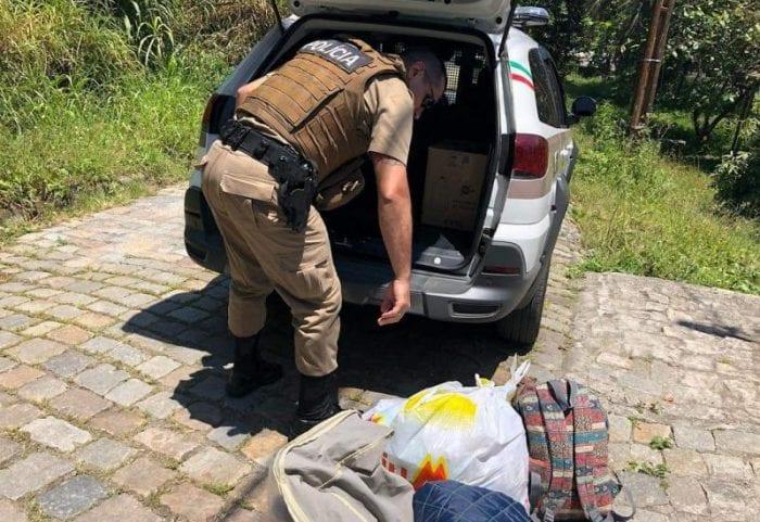 Polícia Militar ajuda mulher vítima de violência doméstica em sua mudança