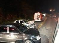 Serviço de Atendimento Móvel de Urgência socorreu as vítimas do acidente (Samu)