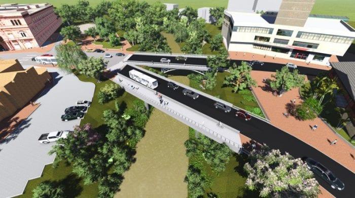 Nova ponte que será construída no Centro Histórico de Blumenau - foto da PMB