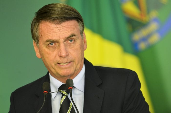 Presidente Jair Bolsonaro durante pronunciamento - foto de Marcelo Camargo/Agência Brasil