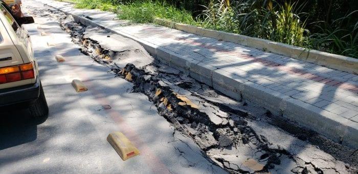 Rua Gustavo Henschel havia sido interrompida por conta de danos causados pelo rompimento de adutora