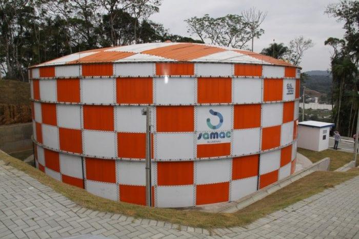 Novos reservatórios devem seguir o padrão do cosntruido na Itoupava Central - foto de Marcelo Martins
