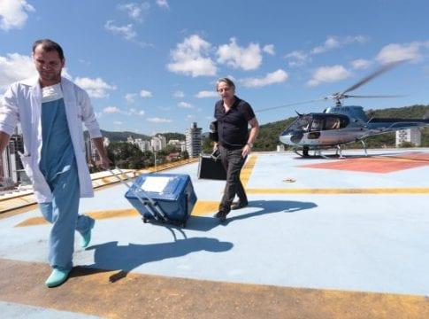 Helicóptero que era de uso exclusivo do governador faz primeiro transporte de órgão para transplante - foto de Mauricio Vieira/Secom