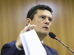 O ministro da Justiça e Segurança Pública, Sergio Moro, após reunião para apresentar o Projeto de Lei Anticrime - foto de Marcelo Camargo/Agência Brasil