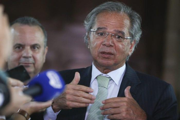 Ministro da Economia, Paulo Guedes, após reunião - foto de Valter Campanato/Agência Brasil