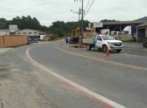 Samae realiza conserto em adutora na Itoupavazinha