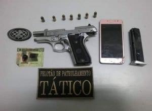 Arma apreendida com homem que participou de assaltos em Mirim Doce