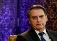 Presidente da República, Jair Bolsonaro durante entrevista - foto de Isac Nóbrega/PR