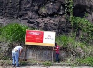Placas de sinalização das obras já foram instaladas - foto da PMB
