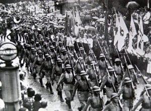 32º BATALHÃO DE CAÇADORES - O VANGUARDEIRO chega a Blumenau em 11 de abril de 1939. - foto do Arquivo Histórico de Blumenau - foto do AHJFS