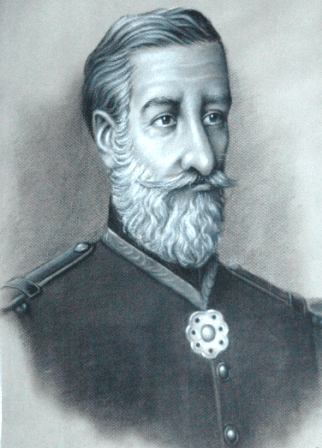 PATRONO: Ilustre catarinense Brigadeiro Jacintho Machado de Bittencourt. verdadeiro líder de atitude e exemplo - foto do Acervo 23º BI