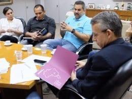 Reunião entre representantes da Prefeitura, Fundação Catarinense de Esporte (Fesporte) e Comitê Olímpico do Brasil (COB)