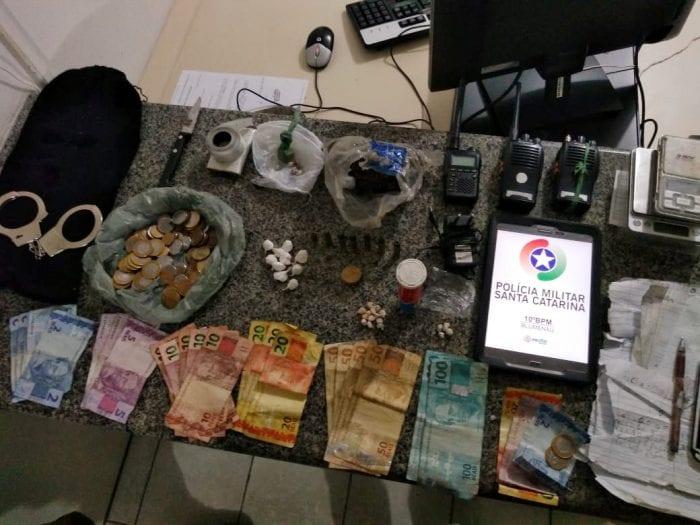 Apreensões na operação Tiradentes Adsumus - foto da PMSC