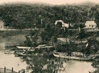 Foz do ribeirão Garcia - foto de Eugen Currlin; acervo de Sammlung B. K. Kadletz