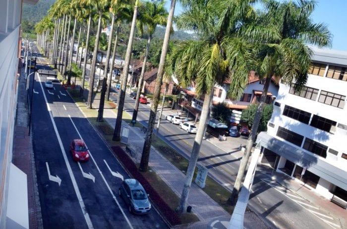 Rua das Palmeiras - foto da Prefeitura de Blumenau