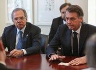 Presidente da República Jair Bolsonaro e o ministro da Economia Paulo Guedes - foto de Marcos Corrêa/PR