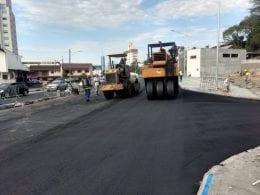 Trânsito deve ser modificado para as pistas do lado direito, permitindo a pavimentação no lado oposto.