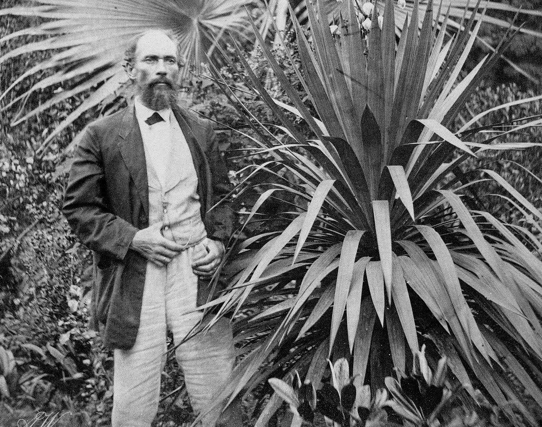 Hermann Bruno Otto Blumenau no jardim de sua casa
