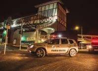 Viatura da Polícia Militar na Vila Germânica, onde ocorre a Oktoberfest de Blumenau - foto de GIovanni SIlva