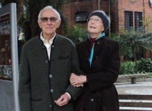 Comendador Rolf Odebrecht e sua esposa
