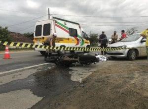 Jovem de 20 anos morre em acidente na SC-421 - foto de Raphael Carrasco/Jornal de Pomerode