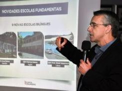 Prefeito Mário Hildebrandt durante coletiva de imprensa - foto de Eraldo Schnaider
