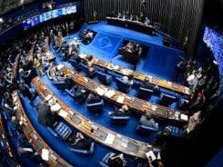 Senadores durante discussão da Reforma da Previdência - foto de Marcos Oliveira/Agência Senado