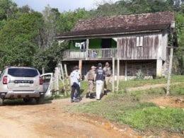 Propriedade onde ocorreu o homicídio em Indaial - foto de Judson Lima