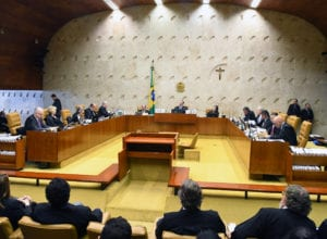 Sessão plenária do STF durante o julgamento da prisão após segunda instância - foto de Carlos Alves Moura
