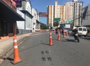Guarda de Trânsito interditou faixas após determinação da Defesa Civil - foto da PMB