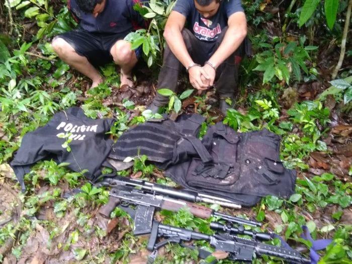 Assaltantes de agência do Bradesco são localizados em posse de fuzis - foto da PMSC