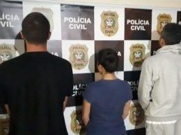 Os presos são parentes de homem que facilitou a entrada na agência - foto da Polícia Civil