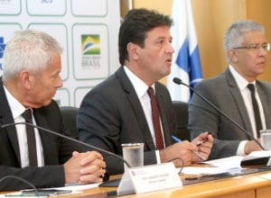 Entrevista coletiva com o ministro da Saúde, Luiz Henrique Mandetta - foto de Erasmo Salomão/MS