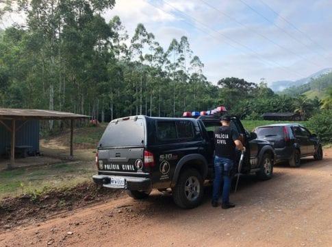 Operação da Polícia Civil em busca de responsáveis pelo assalto ao Bradesco de Apiúna - foto da Polícia Civil