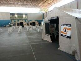 Central de referência para casos de coronavírus - foto da Defesa Civil