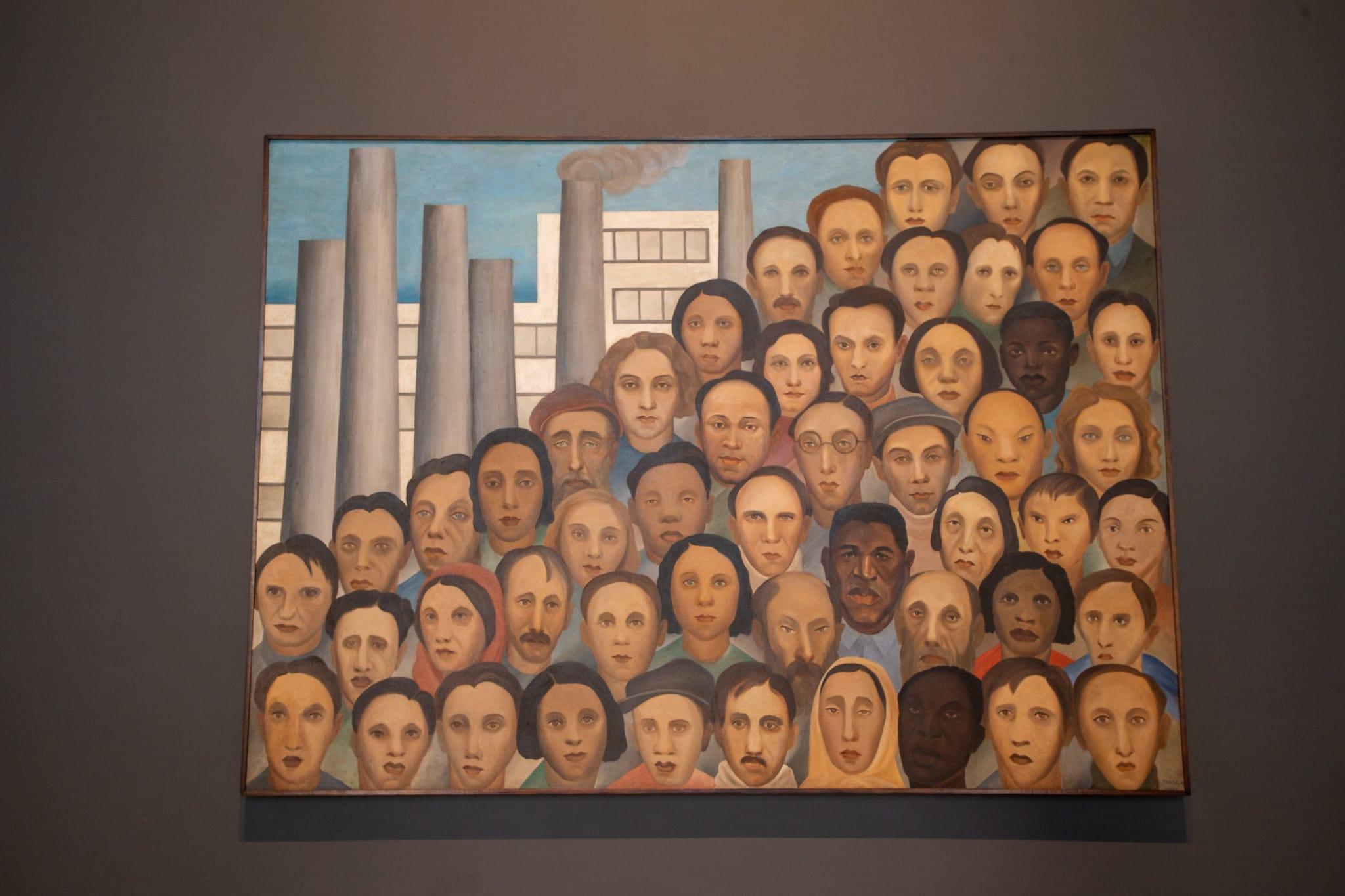 """""""Operários"""", obra de Tarsila do Amaral - foto do Governo de São Paulo"""